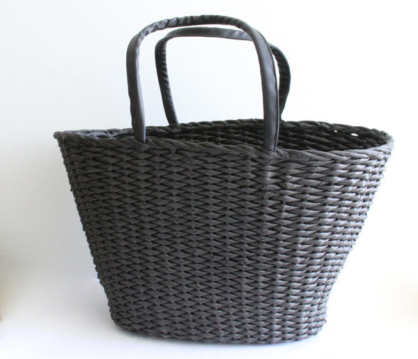 Best Beach Basket – Big Oval Black 1