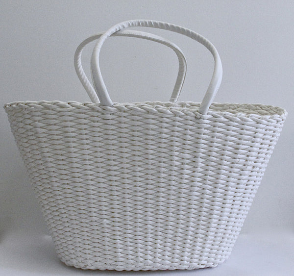 Best Beach Basket – Big Oval White 1