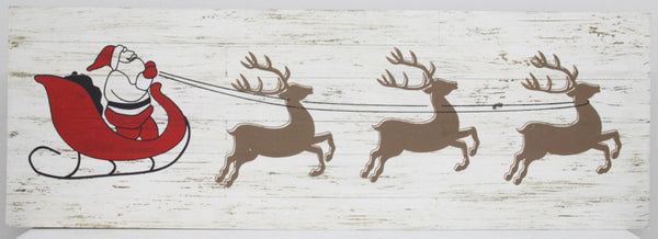 Wall Decor Santa Claus and reindeer 1