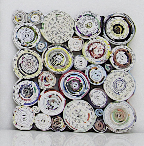 Coaster Paper Circle Square set of 4 1