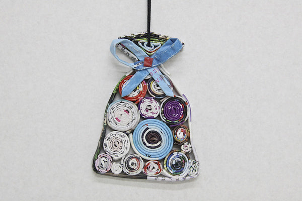 Christmas Decoration Paper Hanging Present Sack 1