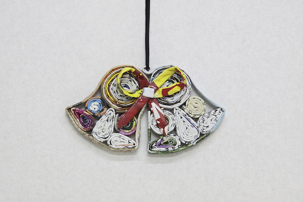 Christmas Decoration Paper Hanging Couple Bells 1