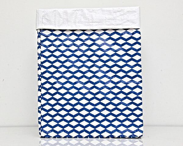 Plant Bag Blue & White Large 1