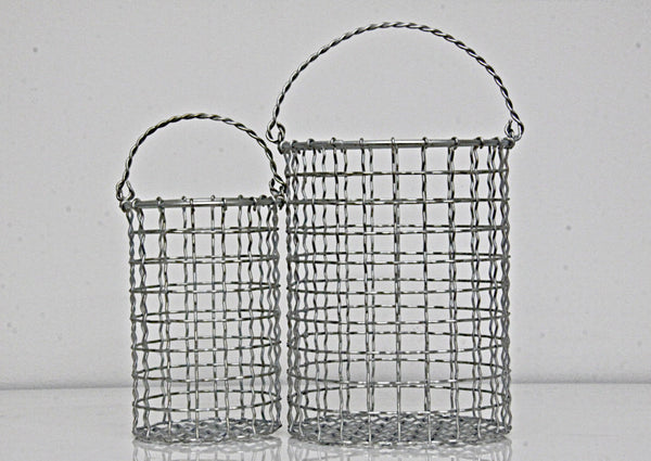 Baskets Round Set of 2 Iron Plated 1
