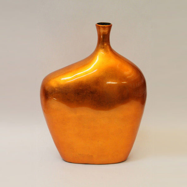 Lacquer vase – Large – Orange Silver (42cm)