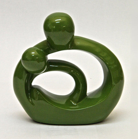 Embrace Statue – Glossy Green (15cm)