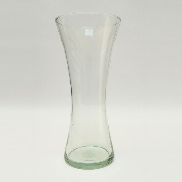 Glass Vase Small – Light Green Glass (13.5cm x 30cm)