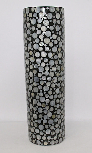 Vase Mother of Pearl Black