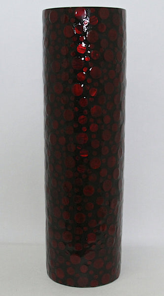 Vase Mother of Pearl Red
