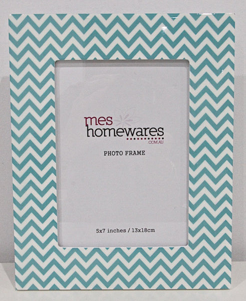 Photo Frame  Green Chevron