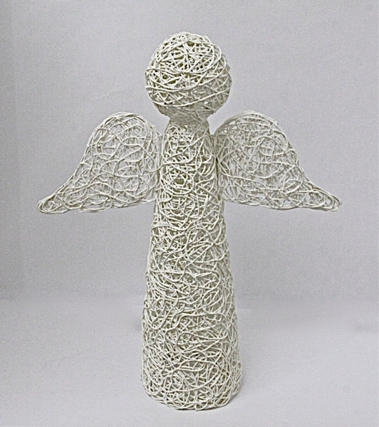 Christmas Decoration Angel Standing White