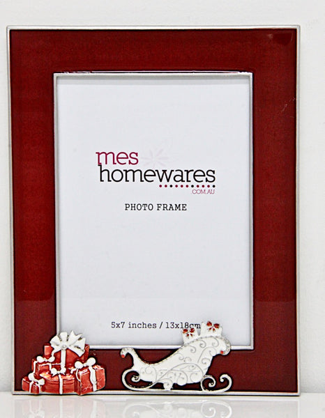 Christmas Photo Frame Red 5×7