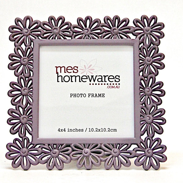 Photo Frame Square Flower 4×4