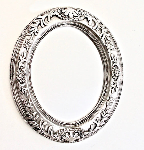 Oval Mirror Silver Leaf