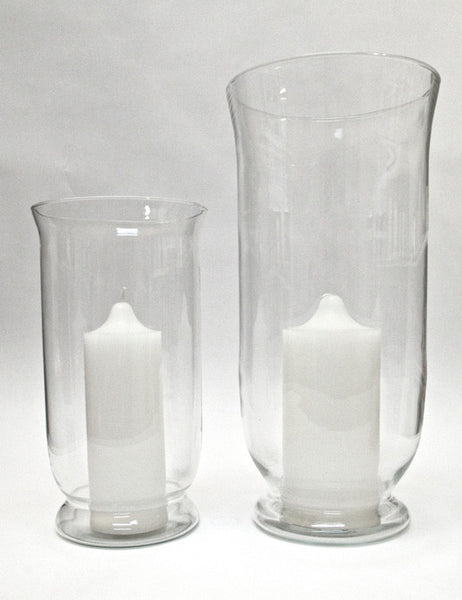 Hurricane Vases Small and Large