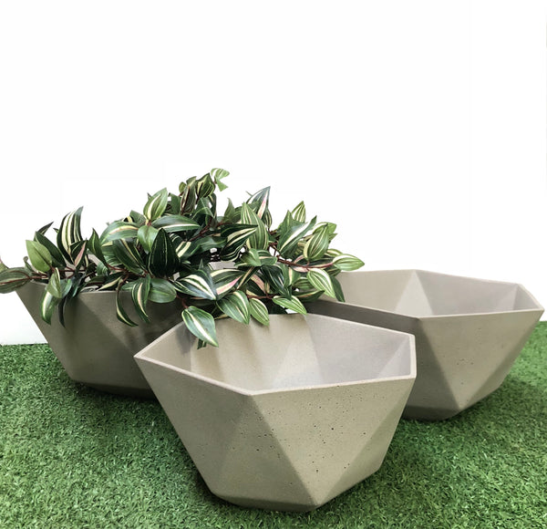 Hexagon Pot Set of 3