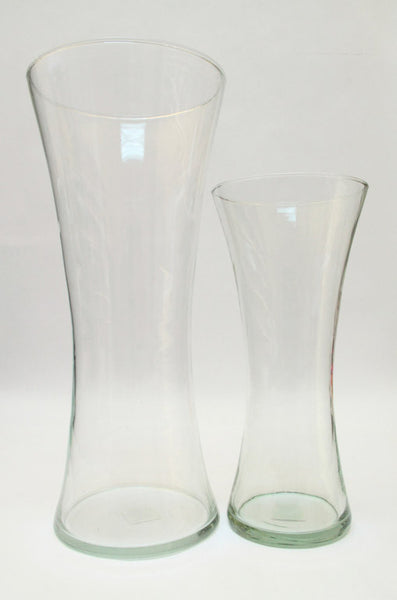 Light Green Glass Vases - Both Sizes