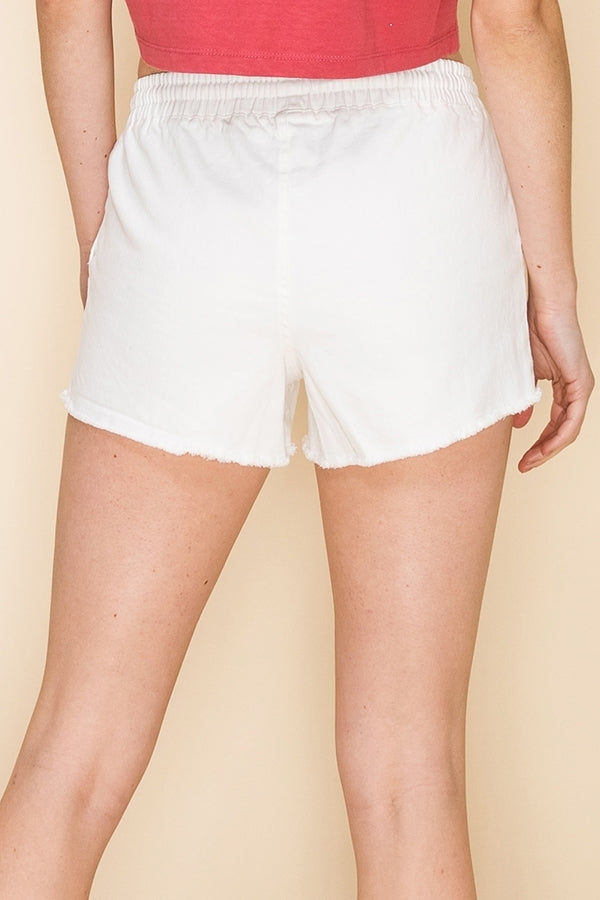 The Living in Paradise Shorts (White)