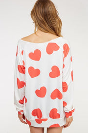 The Crush on You Slouchy Hearts Top