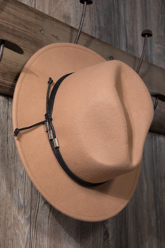 The Olivia Wool Felt Panama Hat - Pecan