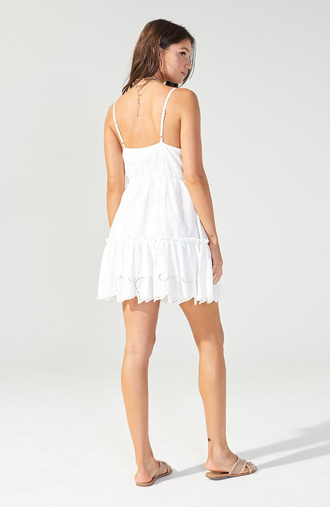 Nirvana White Swing Dress