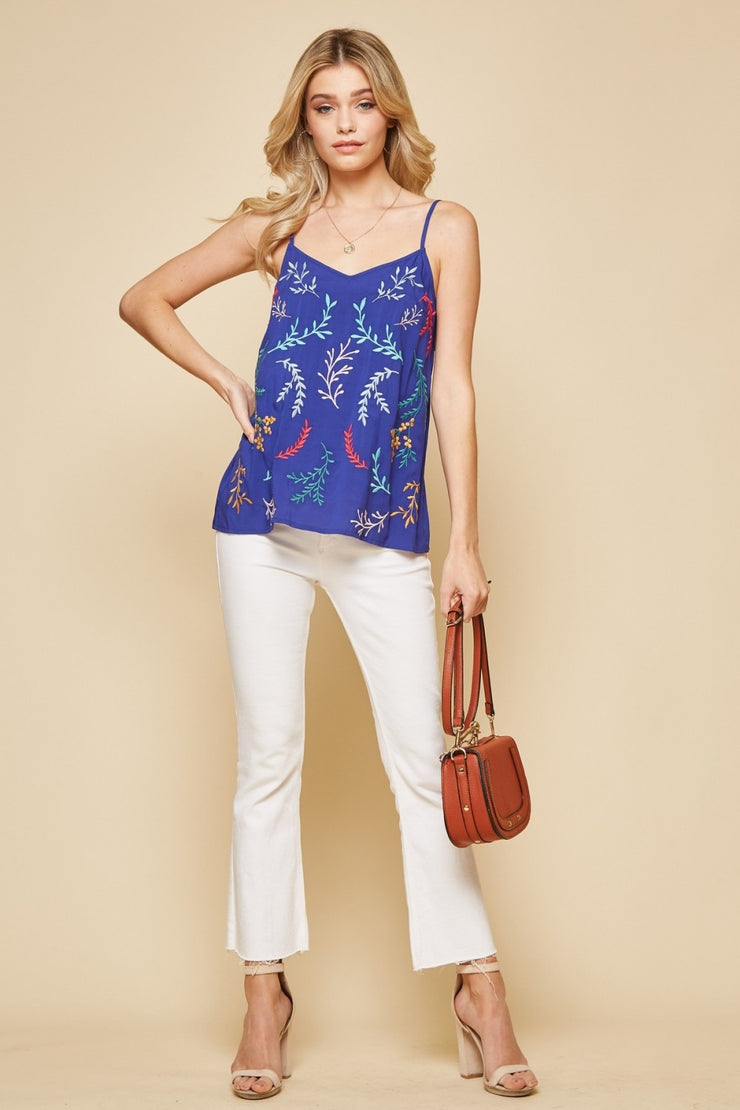 The Fernandina Fern Cami - Royal Blue
