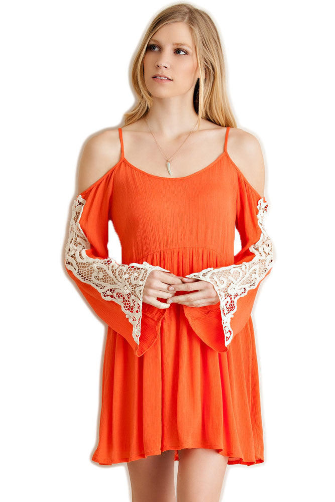 Boho Cold Shoulder Game Day Dress Dress Entro - Bows and Arrows FSU Seminoles and UF Gators Women's Game Day Dresses and Apparel