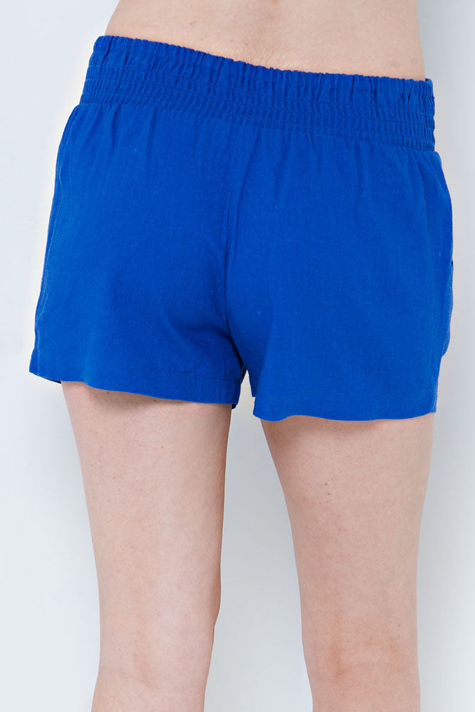 Gator Blue Linen Game Day Shorts