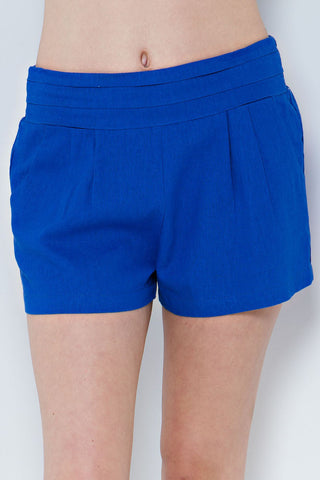 Gator Blue Linen Game Day Shorts Shorts Entro - Bows and Arrows FSU Seminoles and UF Gators Women's Game Day Dresses and Apparel