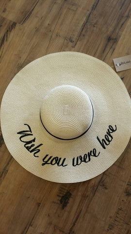 Wish You Were Here Large Sun Hat