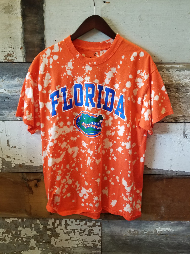 PRE-ORDER: Florida Gators Bleached Tee - Orange