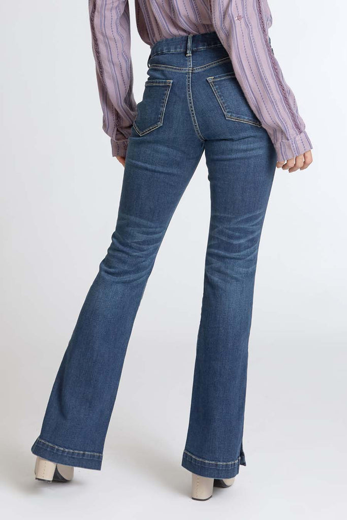The Sadie High Rise Flare - Mirage Wash