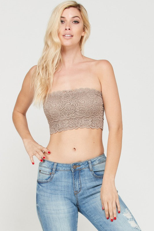 Cocoa Lace Bandeau Bralette Wishlist - Bows and Arrows FSU Seminoles and UF Gators Women's Game Day Dresses and Apparel