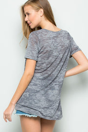The Heavenly Heathered Pocket Tee (4422174769200)