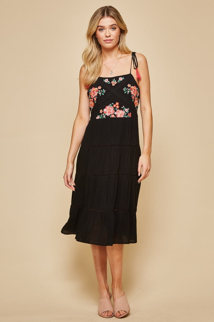 The Captiva Embroidered Midi Dress