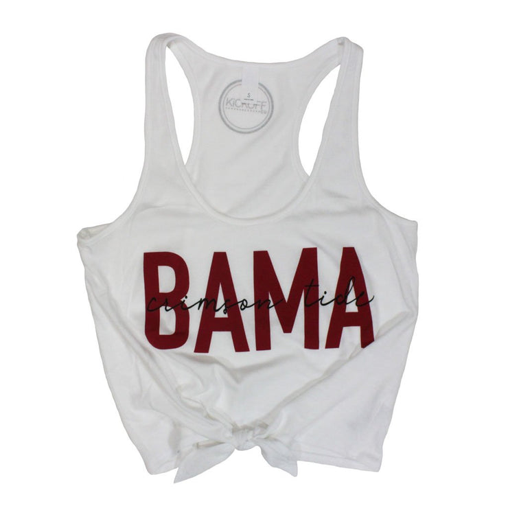 'Bama Iconic High Waisted Tie Tank (4177516986416)