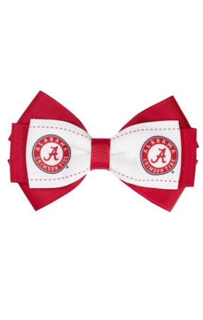 Alabama Crimson Tide Two-Tone Bow Hair Clip (587104944161)