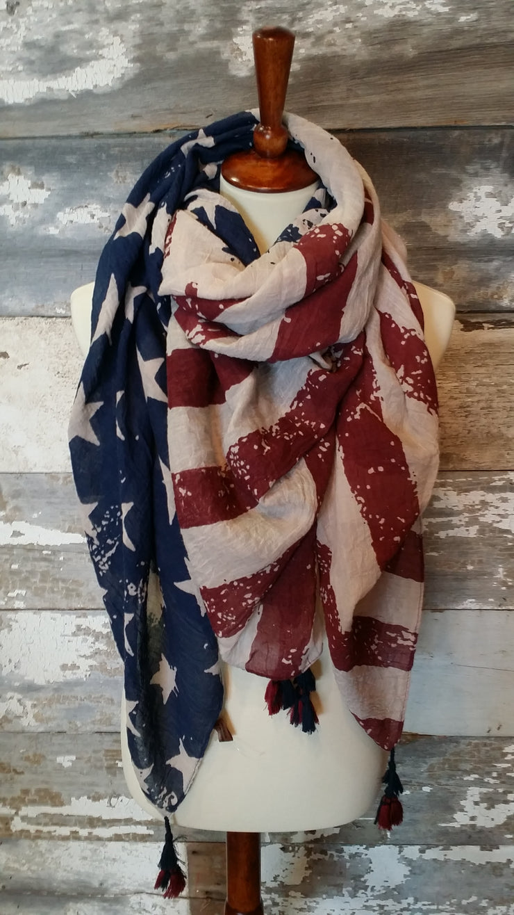 American Flag Scarf Scarf Bows and Arrows Co LLC - Bows and Arrows FSU Seminoles and UF Gators Women's Game Day Dresses and Apparel (9717930433)