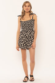 Jungle Path Romper - Black (4405667266608)