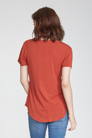 Rust Phoenix Pocket V-Neck Tee (3797794979888)