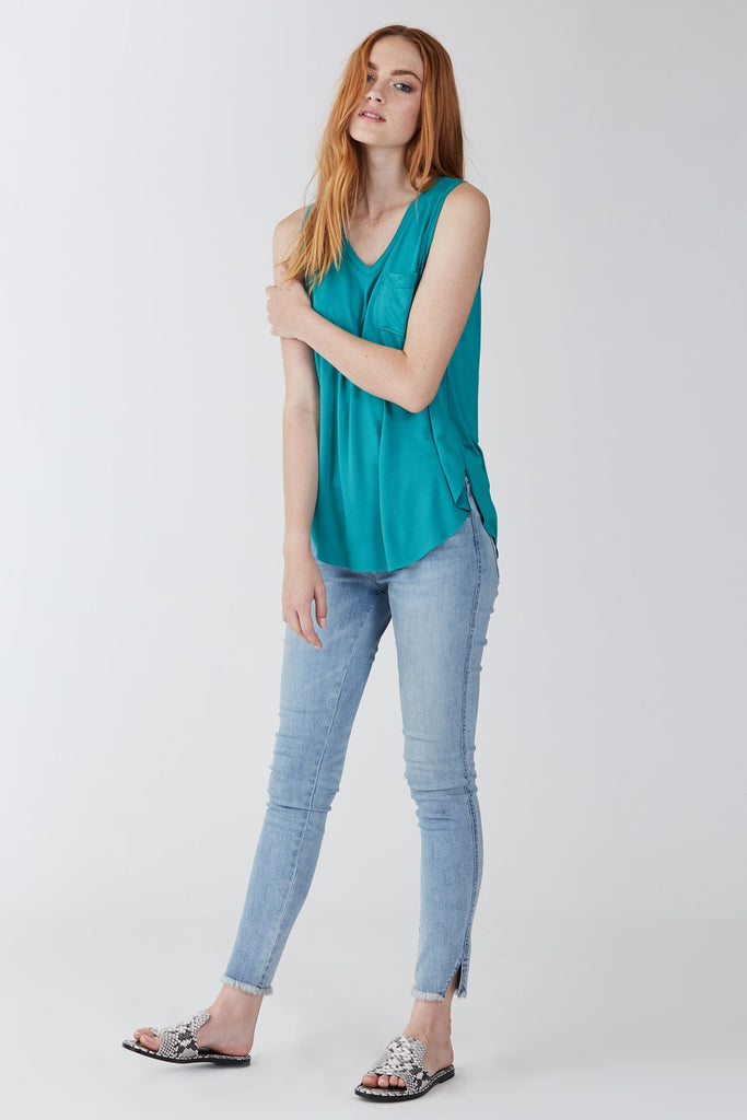 The Esther Pocket Tank (Jade)