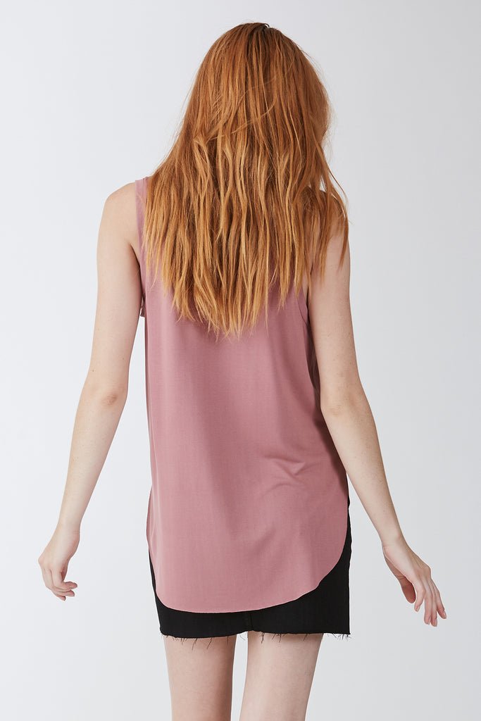 The Esther Pocket Tank (Rose)