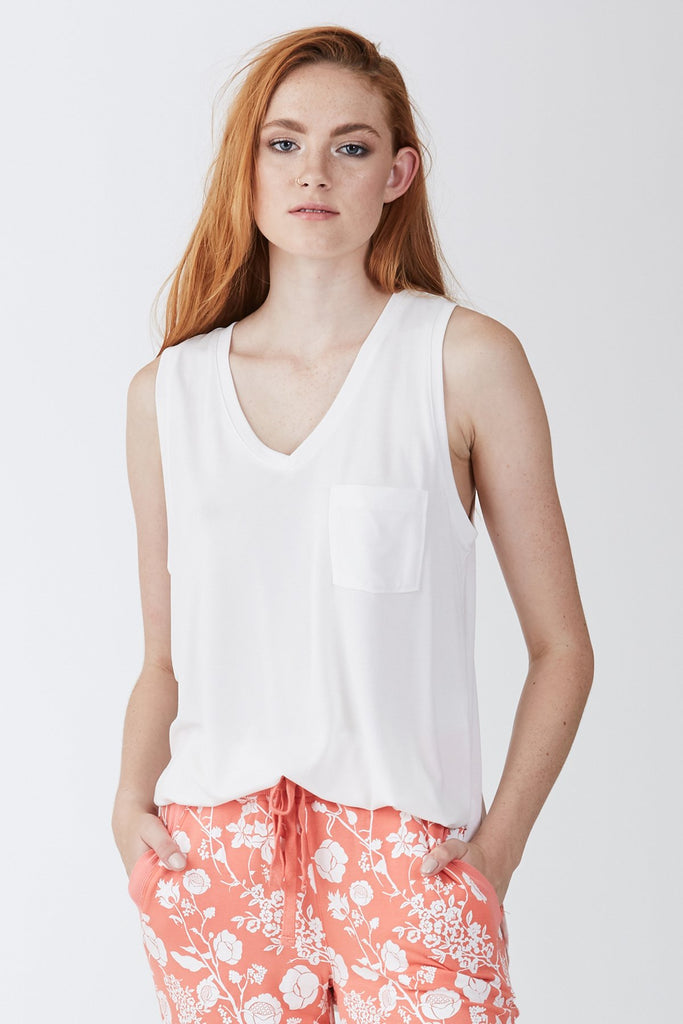 The Esther Pocket Tank (White)