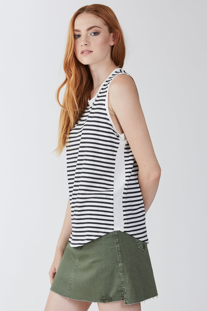 The Devon Stripe Muscle Tank