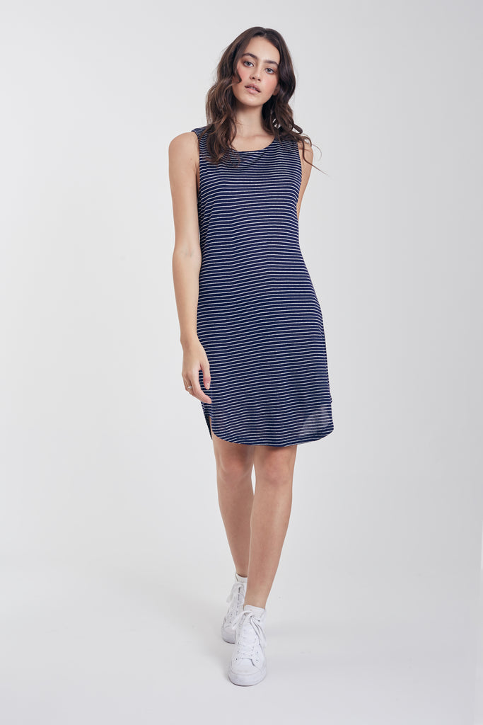 The Ella Open Back Dress (Navy)