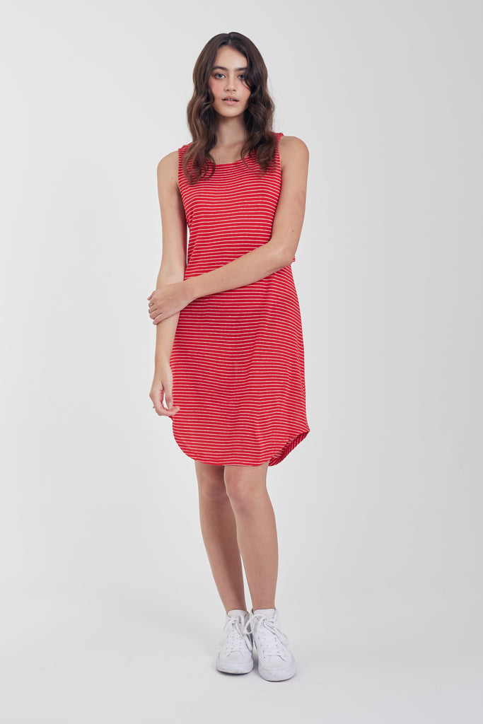 The Ella Open Back Dress (Red)