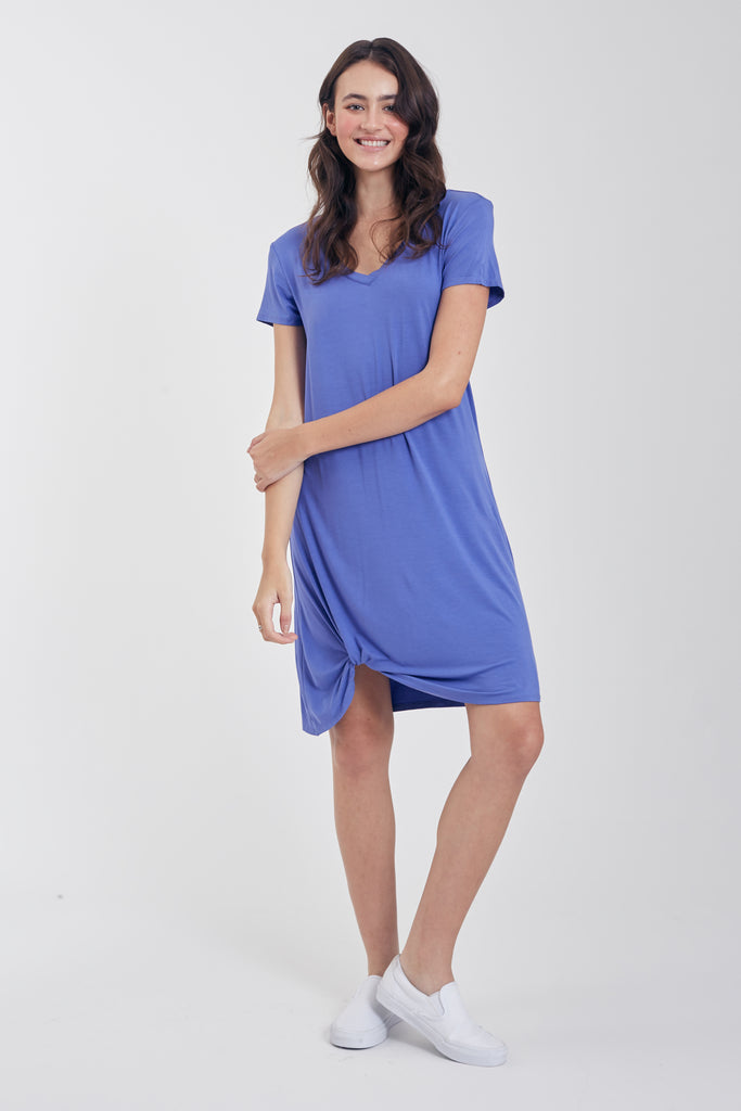 The Hope Side Knot Dress (Blue Pearl)