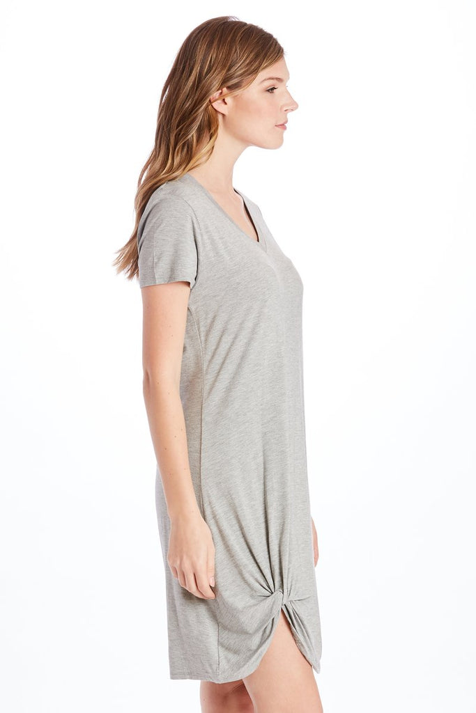 The Hope Side Knot Dress (Heather Grey)