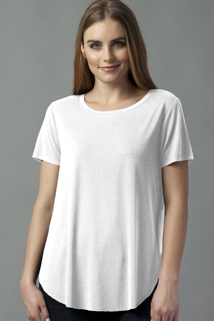 The Miriam No Pocket Tee - White