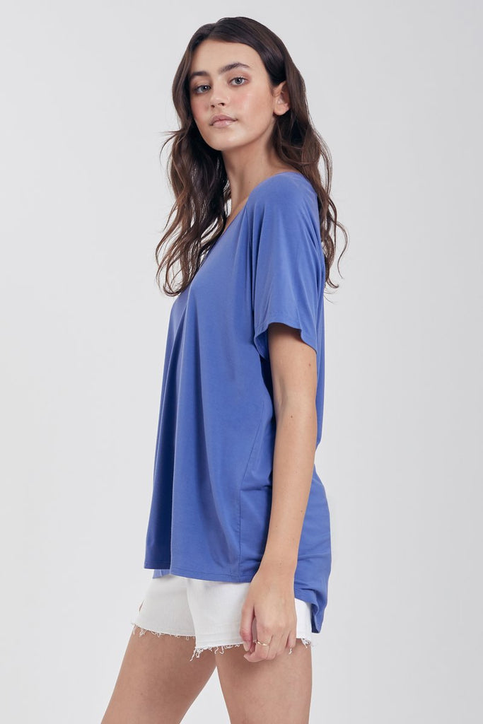 The Taylor Slouchy Tee (Blue Pearl)